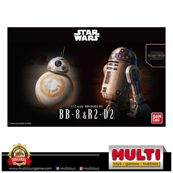 STAR WARS PLAMO 1/12 BB-8 & R2-D2 03220/KB