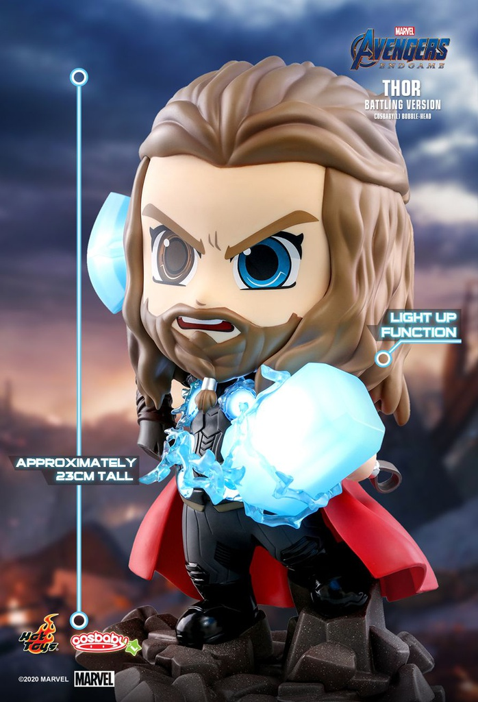 [Closed PO] HT COSB737 Thor (Battling Version) Cosbaby (L) Bobble-Head 60398