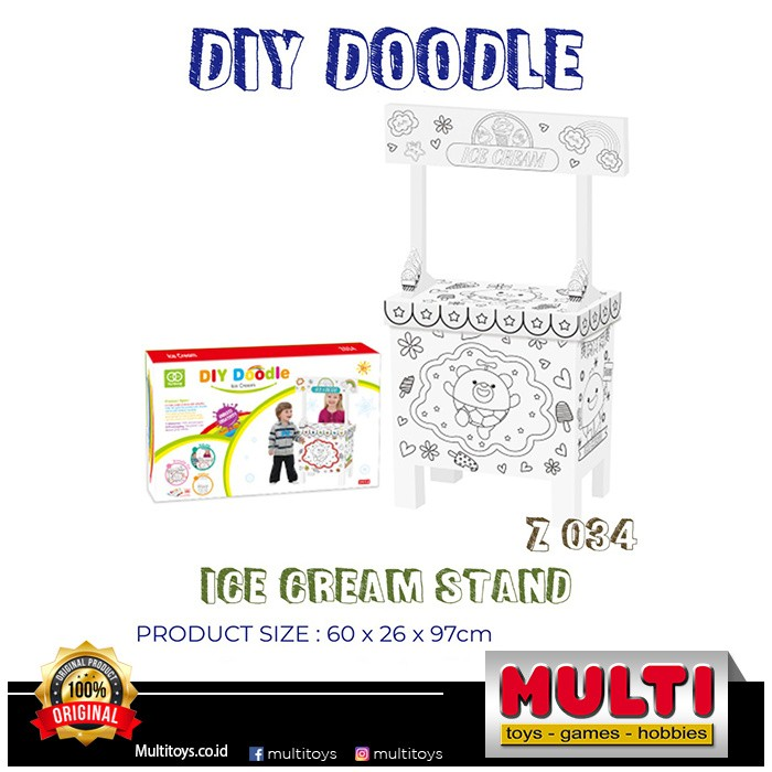 DIY DOODLE Z034 ICE CREAM STAND 87034