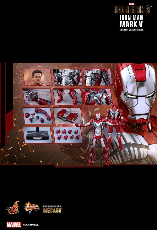 [PO] HT MMS400D18 IRONMAN 2 1/6 SCALE IRONMAN MARK V COLLECTIBLE FIGURE 60744