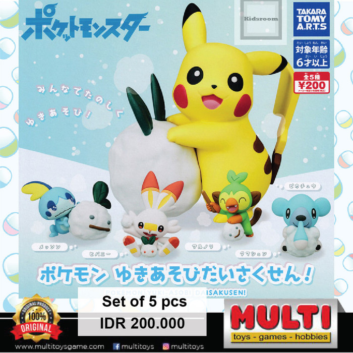 T-ARTS GACHA POKEMON/LET'S PLAY WITH SNOW 88191(2)