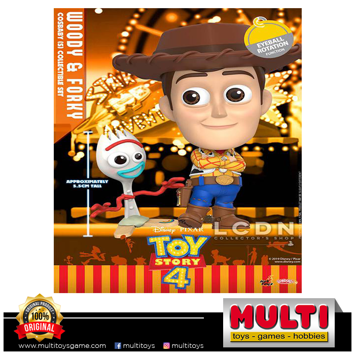 HOT TOYS COSBABY 602 WOODY & FORKY SET 60027