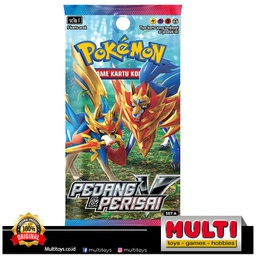 POKEMON TCG INDONESIA V6 SET A BOX PEDANG & PERISAI 80034
